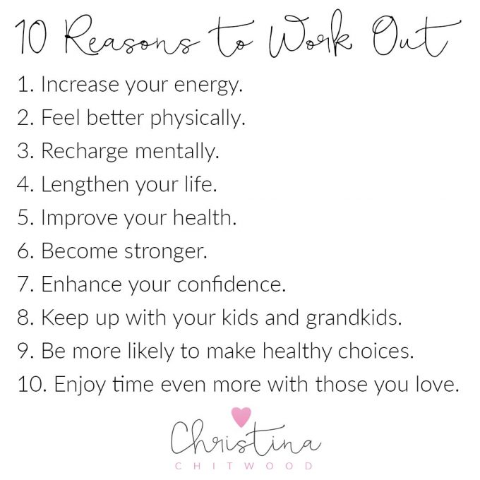 10 Reasons to Work Out {Free Printable}