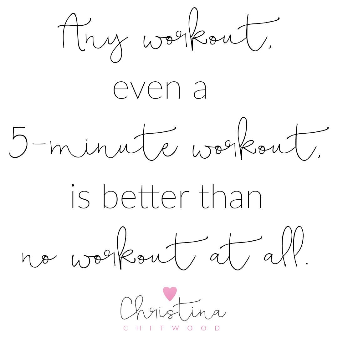 """""""Any Workout Is Better Than No Workout"""" Word Art {Free Printable}"""