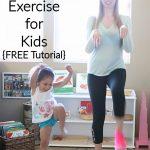 Dinosaur Stomps Exercise for Kids {FREE Printable}