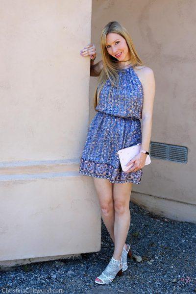 Joie Silk Dress, Ted Baker Crossbody Handbag, and Via Spiga Shoes - 1