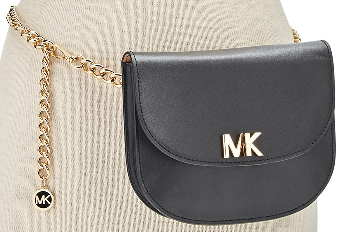 Michael Kors MK Turnlock Chain Belt Bag