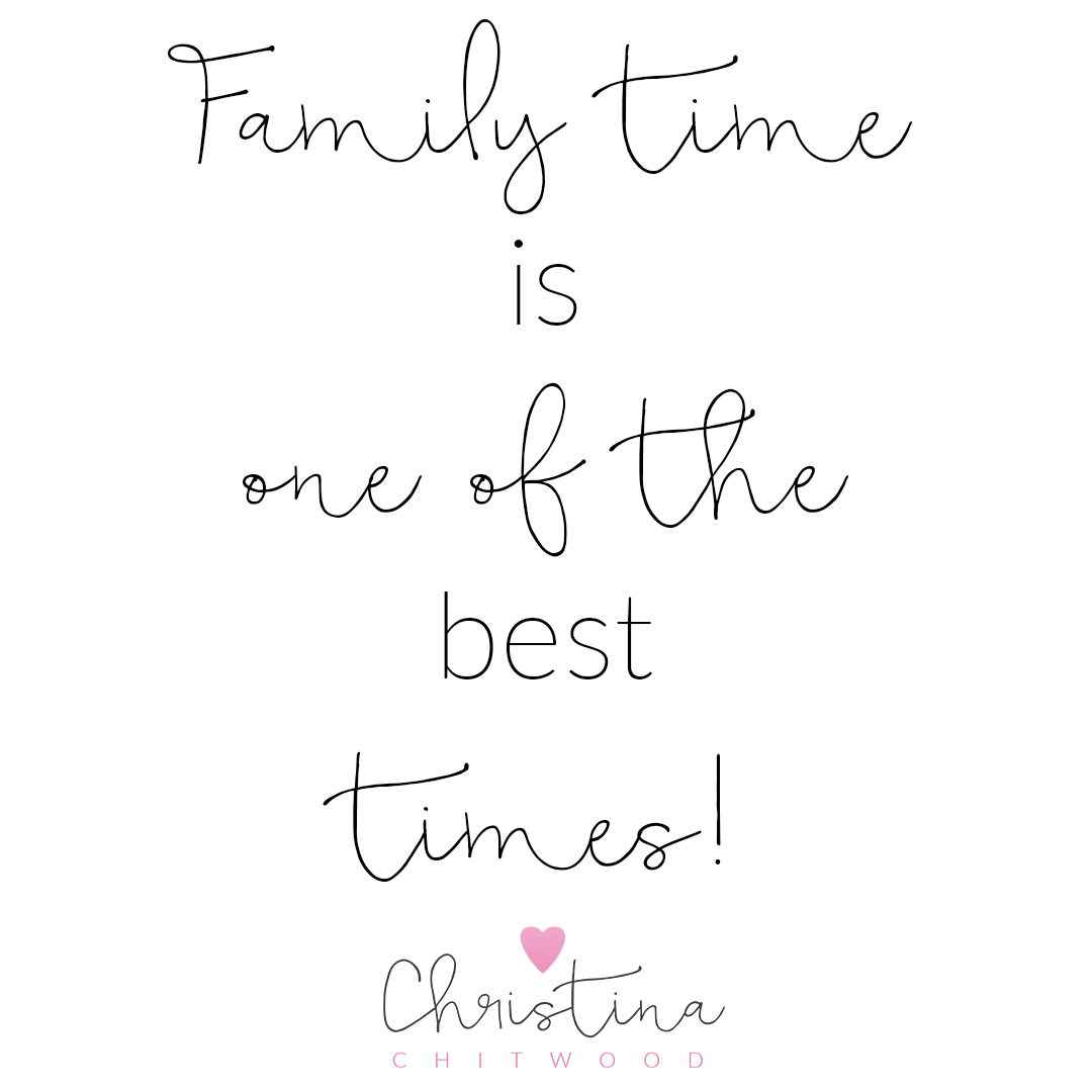 """Family Time Is One of the Best Times"" Word Art {Free Printable}"