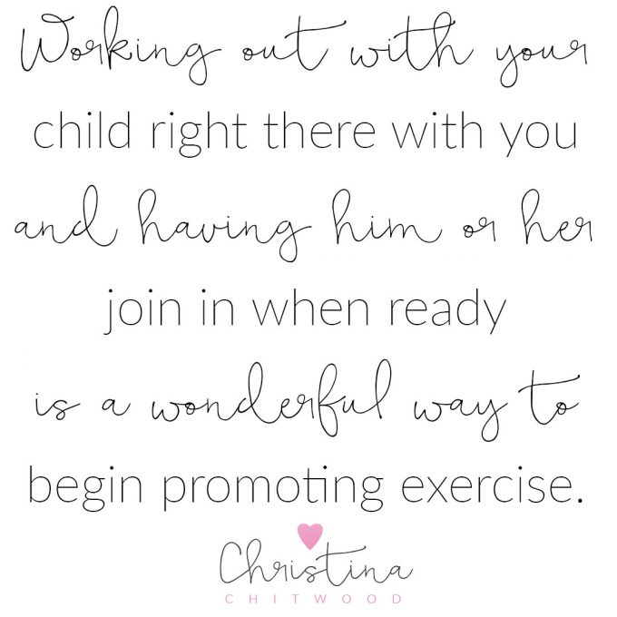"""Working out with Your Child"" Word Art {Free Printable}"