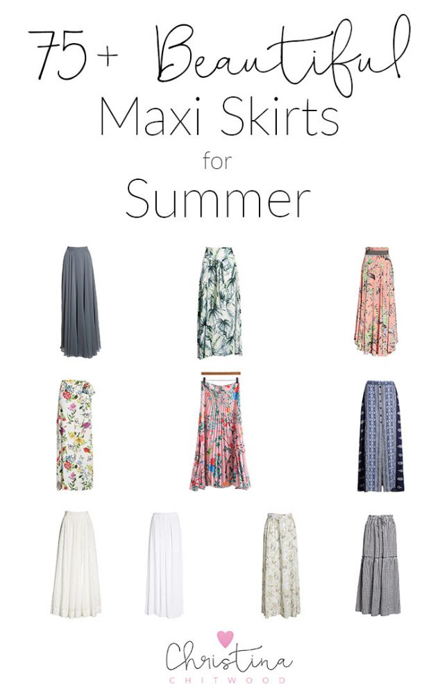75+ Beautiful Maxi Skirts for Summer