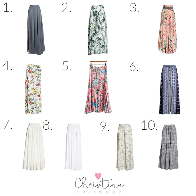 75+ Beautiful Maxi Skirts for Summer - Square