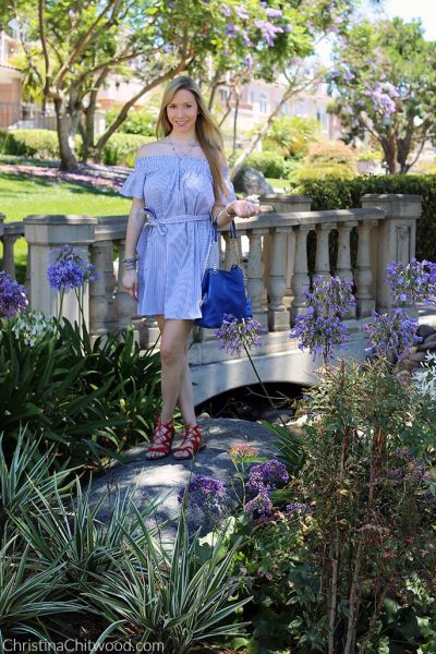 Aqua Dress, Michael Kors Handbag, and Sam Edelman Sandals - 2