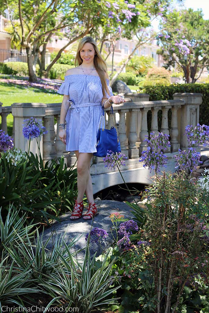 Aqua Dress, Michael Kors Handbag, and Sam Edelman Sandals - 2