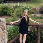 Black Lace Yoke Dress Fashion Look