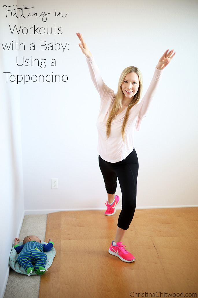 Fitting in Workouts with a Baby - Using a Topponcino