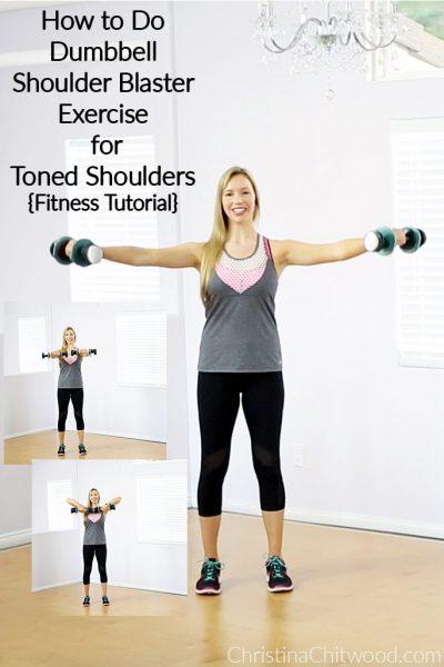 How to Do Dumbbell Shoulder Blaster Exercise for Toned Shoulders {Fitness Tutorial}