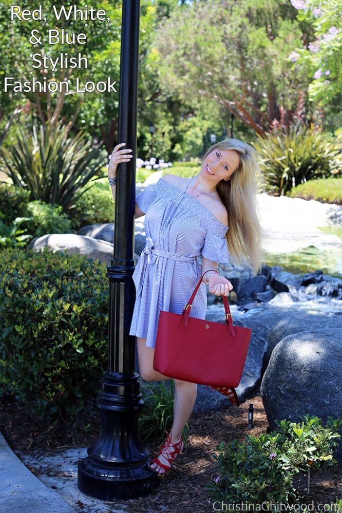 Red, White, and Blue Stylish Fashion Look