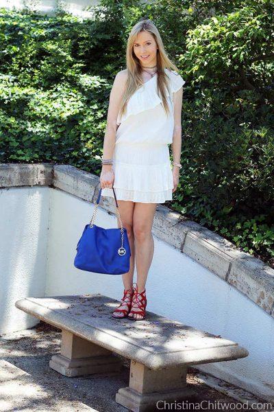 Joie Dress, Michael Kors Handbag, and Sam Edelman Sandals - 2