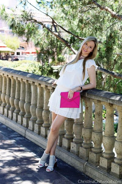 Joie Dress, Rebecca Minkoff Clutch, and Via Spiga Shoes - 3