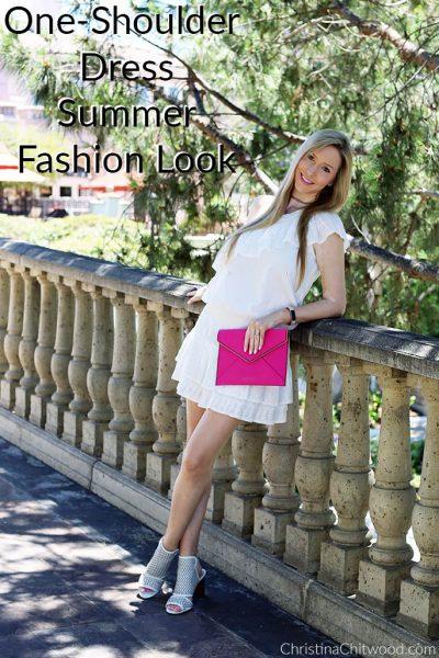 One-Shoulder Dress Summer Fashion Look
