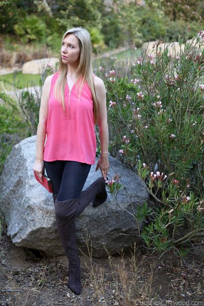 The Kooples Top, Frame Jeans, Hobo Lauren Clutch, and Marc Fisher Boots - 3