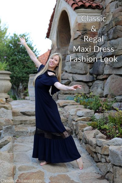 Classic and Regal Maxi Dress Fashion Look