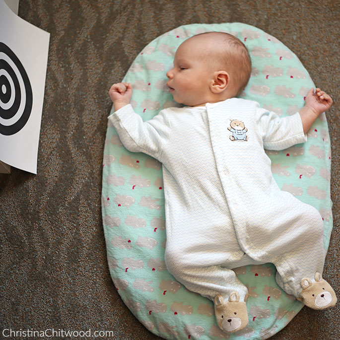 Our Newborn Baby Boy Enjoying His Montessori Space on His First Trip at 6 Weeks Old