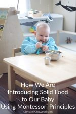 How We Are Introducing Solid Food to Our Baby Using Montessori Principles