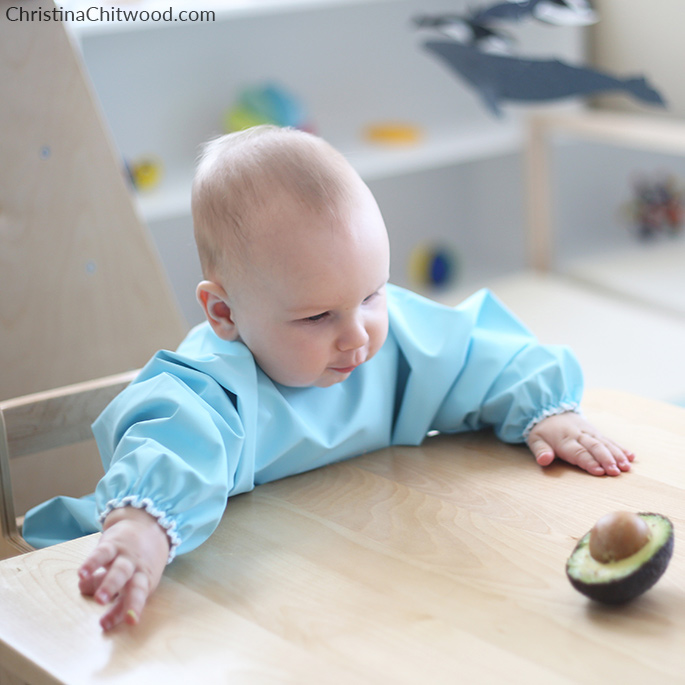 Our 6-Month-Old Baby Boy Learning About Parts of an Avocado
