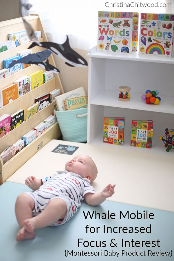 Whale Mobile for Increased Focus and Interest (Montessori Baby Product Review)