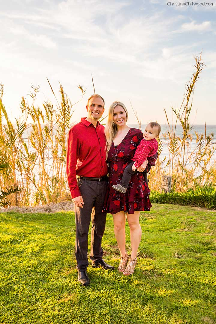 Holding Our Baby Boy in Del Mar, California. Band of Gypsies Dress and Gentle Souls Sandals Outfit - 1