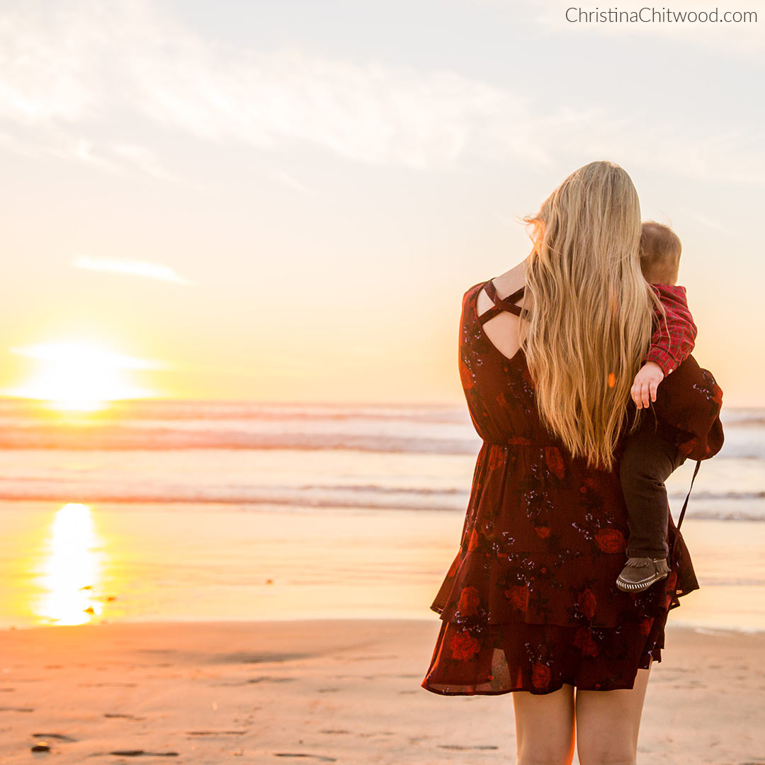 Watching the Sunset with Our Baby Boy. Band of Gypsies Dress and Gentle Souls Sandals Outfit - 4