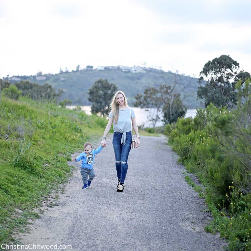 Forever 21 Top, AE Jeans, Avec Les Filles Shoes, Botkier Handbag, and Hurley Baby Boy Outfit - 1