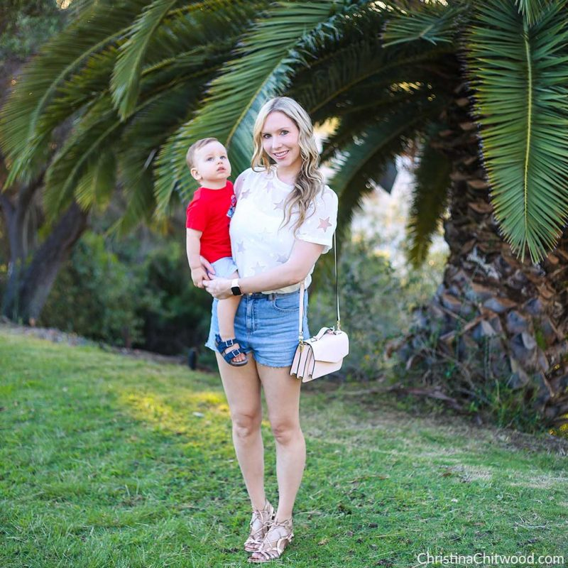 Amazon Fashion Top, Topshop Shorts, Gentle Souls Shoes, Nadri Earrings, and Apple Watch. Carter's Baby Boy and Toddler Boy Outfit - 1.jpg