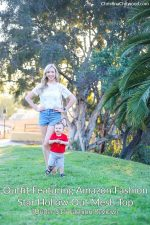 Outfit Featuring Amazon Fashion Star Hollow Out Mesh Top {Under $15 Fashion Review}