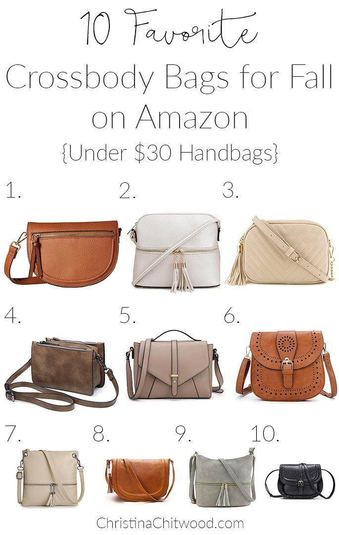 10 Favorite Crossbody Bags for Fall on Amazon {Under $30 Handbags}