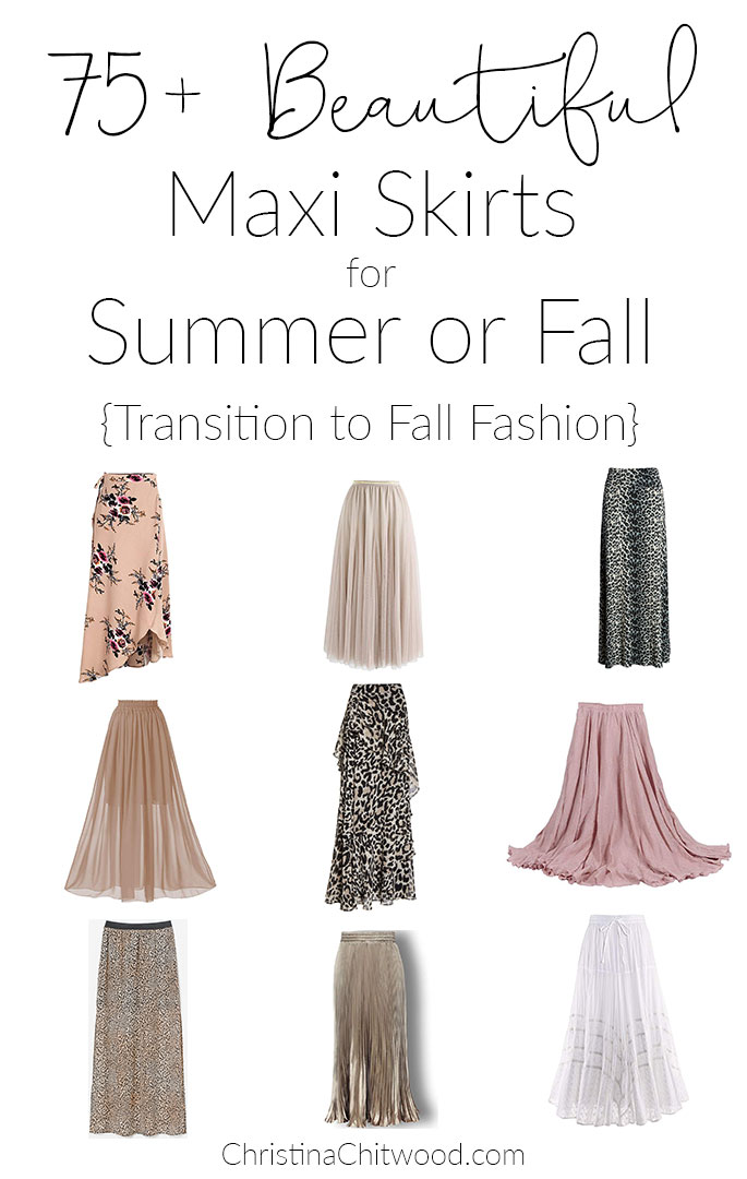 75+ Beautiful Maxi Skirts for Summer or Fall {Transition to Fall Fashion}