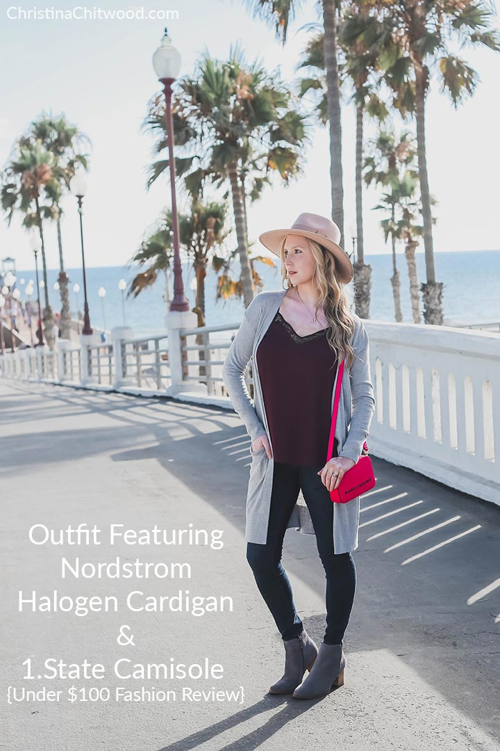 Outfit Featuring Nordstrom Halogen Cardigan and 1.State Camisole {Under $100 Fashion Review}