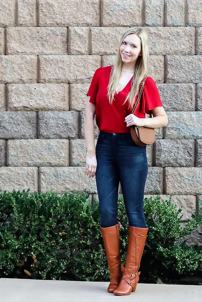 Women's ASTR the Label Top, American Eagle Jeans, Steve Madden Handbag, Miz Mooz Boots - ChristinaChitwood.com