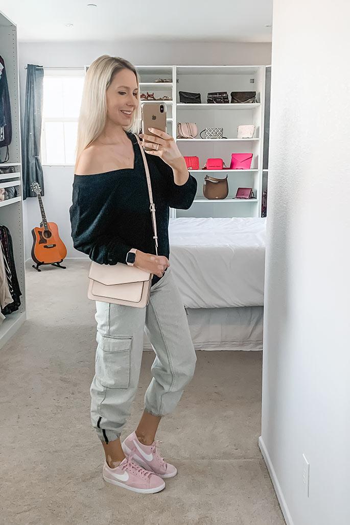 Women's Amazon Top, Topshop Cargo Pants, Botkier Handbag, Nike Shoes - ChristinaChitwood.com