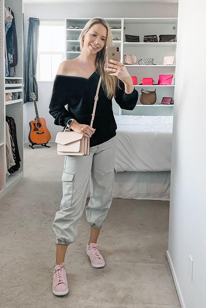 Women's Amazon Top, Topshop Cargo Pants, Botkier Handbag, Nike Shoes. 2 - ChristinaChitwood.com