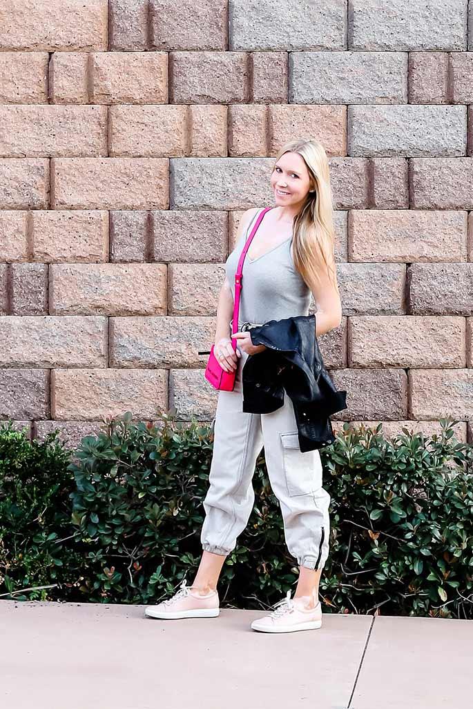 Women's Nordstrom Bodysuit, Topshop Cargo Pants, Marc Jacobs Handbag, Ecco Shoes. 3 - ChristinaChitwood.com